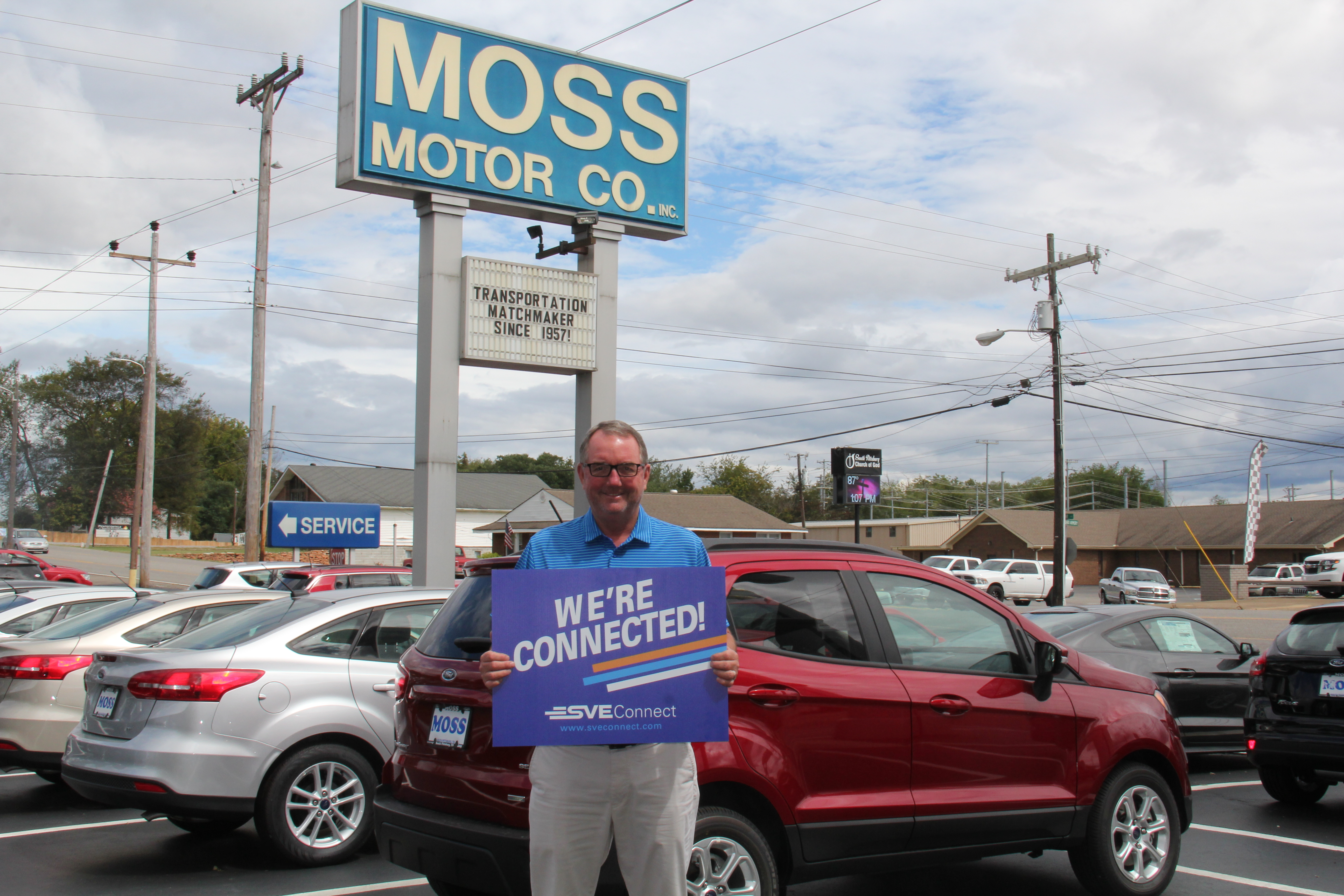 Steve Moss with Moss Motor in South Pittsburg is Connected