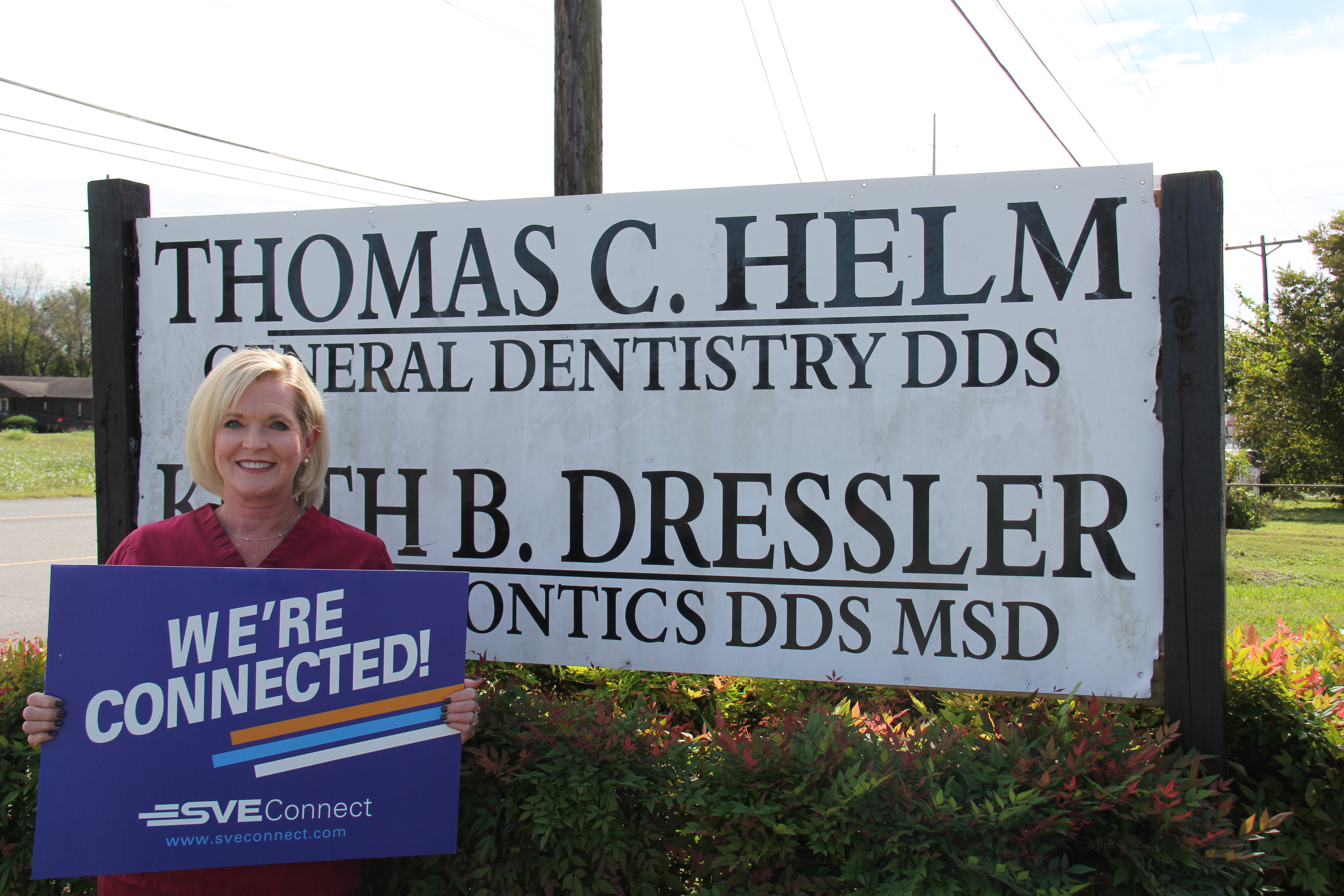 Mary Miles Grider at Doctor Helm's dentist office in Richard City