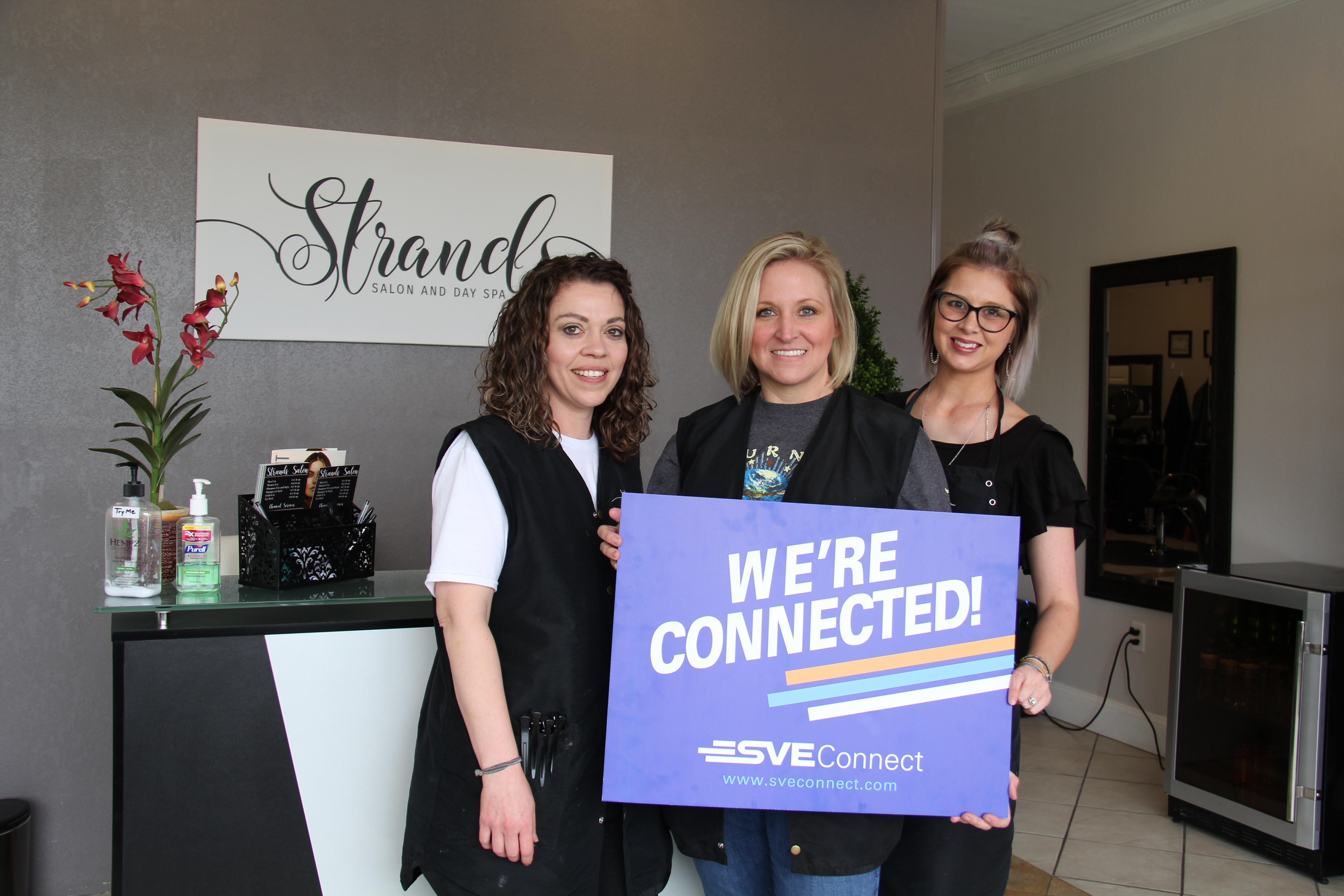 Strands Salon in Jasper is Connected